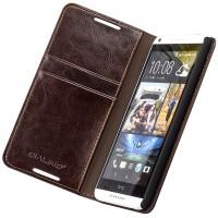 Премиум чехол-портмоне из вощеной кожи для HTC One (M8)