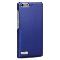 Пластиковый чехол серия Metallic для Huawei Ascend G6 Синий