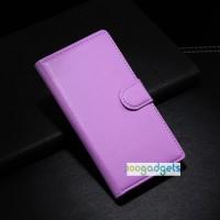 Чехол портмоне подставка с защелкой для Huawei Ascend G6 Фиолетовый