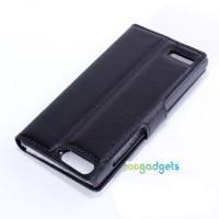 Чехол портмоне подставка с защелкой для Huawei Ascend G6 Черный