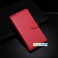 Чехол портмоне подставка с защелкой для Huawei Ascend G6 Красный