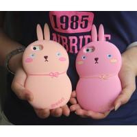 Силиконовый дизайнерский фигурный чехол кролик для Iphone 6 Plus