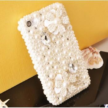 Пластиковый чехол с жемчугом и стразами для Iphone 6 Plus