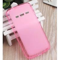 Силиконовый матовый полупрозрачный чехол для Samsung Galaxy Ace 4 Розовый
