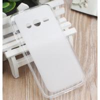 Силиконовый матовый полупрозрачный чехол для Samsung Galaxy Ace 4 Белый