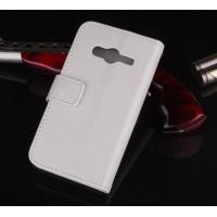 Чехол портмоне подставка с защелкой для Samsung Galaxy Ace 4 Белый