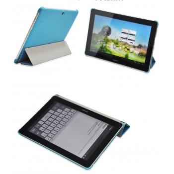 Чехол смарт флип подставка сегментарный на пластиковой основе для планшета Huawei MediaPad 10 FHD