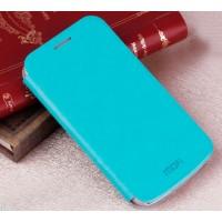 Чехол флип подставка водоотталкивающий для Samsung Galaxy Ace 4 Голубой