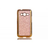 Пластиковый чехол серия Fashion для Samsung Galaxy Ace 4 Бежевый