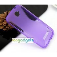 Силиконовый S чехол для Alcatel One Touch Pop C7 Фиолетовый