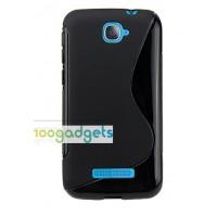 Силиконовый S чехол для Alcatel One Touch Pop C7 Черный