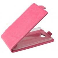 Чехол вертикальная книжка с магнитной застежкой для Alcatel One Touch Pop C7 Пурпурный