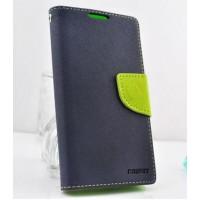Чехол портмоне с защелкой на силиконовой основе для Samsung Galaxy Core Синий