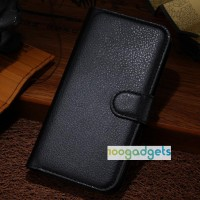 Чехол портмоне подставка с защелкой для Alcatel One Touch Idol Alpha Черный