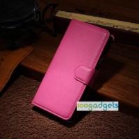 Чехол портмоне подставка с защелкой для Alcatel One Touch Idol Alpha Пурпурный