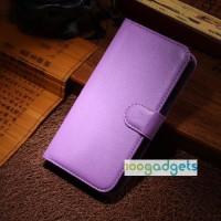 Чехол портмоне подставка с защелкой для Alcatel One Touch Idol Alpha Фиолетовый