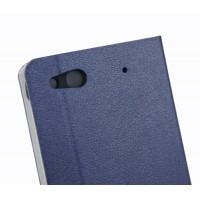 Текстурный чехол флип подставка с отделением для карт для Alcatel One Touch Idol Alpha Синий