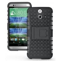 Силиконовый чехол экстрим защита для HTC One E8 Черный