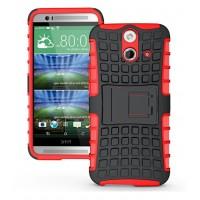 Силиконовый чехол экстрим защита для HTC One E8 Красный