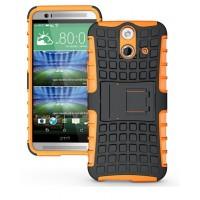 Силиконовый чехол экстрим защита для HTC One E8 Оранжевый