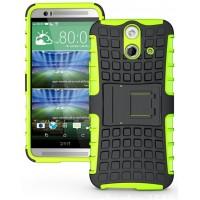Силиконовый чехол экстрим защита для HTC One E8 Зеленый