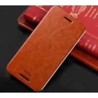 Чехол флип подставка водоотталкивающий для HTC One E8 Коричневый