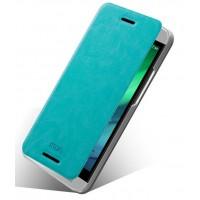 Чехол флип подставка водоотталкивающий для HTC One E8 Голубой