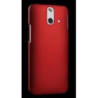 Пластиковый матовый металлик чехол для HTC One E8 Красный