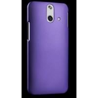 Пластиковый матовый металлик чехол для HTC One E8 Фиолетовый