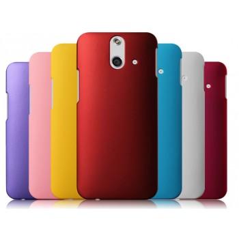 Пластиковый матовый металлик чехол для HTC One E8