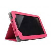Чехол подставка с рамочной защитой серия Full Cover для планшета Lenovo IdeaTab A3000 Розовый