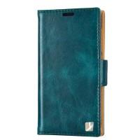 Кожаный чехол горизонтальная книжка (вощеная кожа) с крепежной застежкой для HTC One E8 Синий