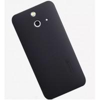 Пластиковый матовый нескользящий премиум чехол для HTC One E8 Черный