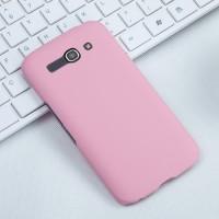 Пластиковый матовый чехол металлик для Alcatel One Touch Pop C9 Розовый