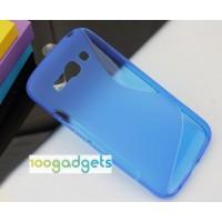 Силиконовый S чехол для Alcatel One Touch Pop C9 Синий