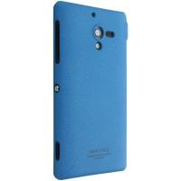 Матовый пластиковый Чехол для Sony Xperia ZL серии IMAK Синий