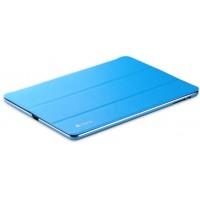 Двухкомпонентный чехол с накладкой металл/поликарбонат и сегментарной смарт крышкой для Ipad Air 2 Голубой