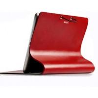 Эксклюзивный гибкий рулонный чехол подставка с нескользящей пластиковой основой для планшета Ipad Air 2 Красный