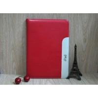 Кожаный чехол с рамочной защитой, креплением для кисти и слотами для карт для Ipad Air 2 Красный