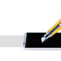 Ультратонкое износоустойчивое сколостойкое олеофобное защитное стекло-пленка для HTC Desire 510