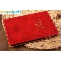Чехол смарт подставка влагогрязестойкий с орнаментальным тиснением на пластиковой основе серия Vintage для Ipad Air 2 Красный