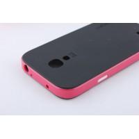 Двухкомпонентный премиум поликарбонат-пластик чехол для Samsung Galaxy S4 Mini Пурпурный