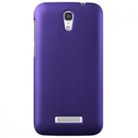 Пластиковый матовый металлик чехол для Alcatel One Touch Pop S7 Фиолетовый