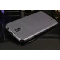 Силиконовый матовый полупрозрачный чехол для Lenovo A859 Ideaphone Черный