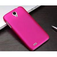 Пластиковый матовый чехол для Lenovo A859 Ideaphone Пурпурный