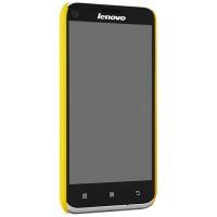 Пластиковый матовый чехол для Lenovo A859 Ideaphone Желтый