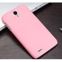 Пластиковый матовый чехол для Lenovo A859 Ideaphone Розовый