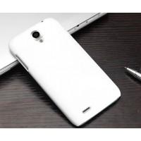 Пластиковый матовый чехол для Lenovo A859 Ideaphone Белый