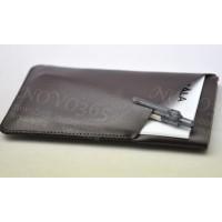 Кожаный мешок с отделениями для Sony Xperia Z3 Tablet Compact Коричневый