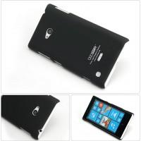 Пластиковый матовый непрозрачный чехол для Nokia Lumia 730/735 Черный